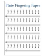 Flute Fingering Paper Special Custom Design For Music Lovers Vertical Poster