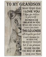Never Forget That I Love You Quote Gift For Grandson From Yaya Vertical Poster