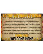 To The Vietnam Veteran Thank You Perfect Gift For Veterans Day Horizontal Poster