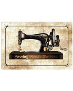 Sewing Mends The Sould Special Custom Design For Sewing Lovers Horizontal Poster