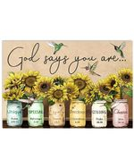 God Says You Are Special Amazing Awesome Special Custom Design Horizontal Poster