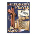 Boilermaker's Prayer Amen Cross Hopes Custom Design Peel & Stick Poster