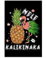 Flamingo Pineapple Mele Kalikimaka Special Unique Custom Design Vertical Poster
