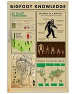 Bigfoot Knowledge Custom Design Gift For Bigfoot Lovers Vertical Poster