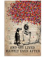 And She Lived Happily Ever After Gift For Rhodesian Dog Lovers Vertical Poster