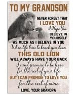 To My Grandson I Can Promise To Love You For The Rest Of Mine Gifts From Grandpa Vertical Poster