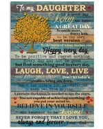 Never Forget That I Love You Love Message Gifts For Daughter From Dad Vertical Poster