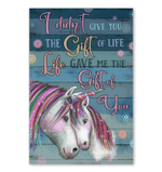 Life Gave Me The Gift Of You Best Gift For Unicorn Lovers Vertical Poster