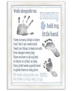 Walk Alongside Me Mommy We Have A Long Way To Go Vertical Poster
