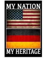 My Nation My Heritage Retro Vintage Gift For American Vertical Poster