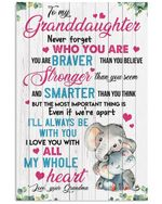 Never Forget Who You Are Quote Gift For Granddaughter Vertical Poster