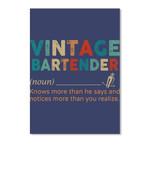 Define Of Vintage Bartender Gifts Peel & Stick Poster