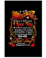 Lovely Coffee Cup Gift For Wonderful Life You Are The Best Thing Vertical Poster