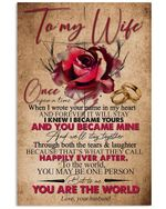 Rose Husband Gifts For Wife I Wrote Your Name In My Heart Romantic Gifts Vertical Poster