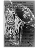 Poster Music Custom Design Gift For Saxophone Lovers Vertical Poster