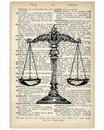 Vintage Symbol Of Law Custom Design Vertical Poster