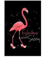 Flamingo Fabulous And Sassy Special Unique Custom Design Vertical Poster
