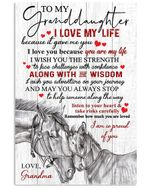 I Am So Proud Of You Quote Gift For Granddaughter Vertical Poster