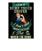 Dump Truck Driver Special Custom Design For Personalized Job Gift Peel & Stick Poster