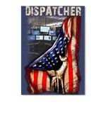 Dispatcher With America Flag Gift For Dispatcher Peel & Stick Poster