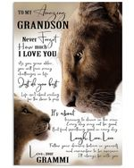 Never Forget How Much I Love You Quote Gift For Grandson Vertical Poster