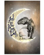 To My Kids I Love You To The Moon And Back Vertical Poster
