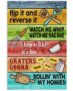 Rollin' With My Homies Graphic Desgin Great Gift For Baking Lovers Vertical Poster