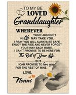 Lovely Messages From Nonni For Beloved Granddaughter Vertical Poster