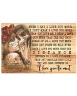 I Love You The Mom Great Gift From Wife/husband To Her/his Love Horizontal Poster