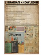 Librarian Knowledge Custom Design Gift For Librarian Vertical Poster
