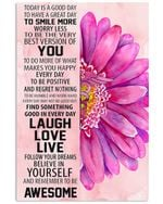 Find Something Good In Every Day Lovely Flower Message Vertical Poster