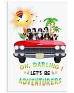 Bernese Let's Be Adventurers Custom Design For Camping Lovers Vertical Poster