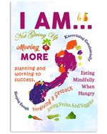 I Am Not Ginving Up Moving More Planing And Working To Success Vertical Poster