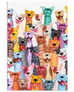 Lovely Pitbull Multi Gifts For Dog Lovers Vertical Poster