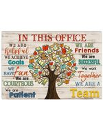 In This Office We Are Helpful We Achieve Goals Gift For Librarian Horizontal Poster
