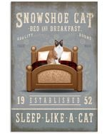 Sleep Like A Cat Snowshoe Cat Gifts For Cat Lovers Vertical Poster