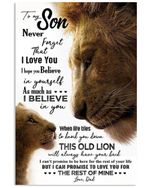 Present For Son Never Forget That I Love You For Family Vertical Poster