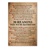 30 Reasons Why We're Best Friend Poster Gift For Best Friend Vertical Poster