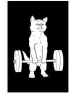 Cat Deadlift Trending For Weightlifting Lovers Vertical Poster