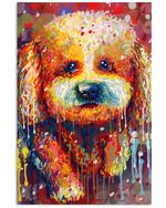 Bichon Frise Water Color Unique Meaningful Gifts For Dog Lovers Vertical Poster