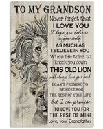 To My Granddaughter I Can Promise To Love You For The Rest Of Mine Gifts From Grandfather Vertical Poster