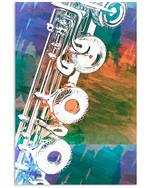 Flute Detail Special Custom Design For Music Lovers Vertical Poster