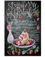 Baking Strawberry Short Cake Poster Trending Gift For Baker Vertical Poster