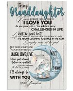 Never Forget That I Love You Lovely Message From Grandma Gifts For Granddaughters Vertical Poster