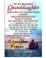 I Love You Forever Quote Gift For Granddaughter From Nanny Vertical Poster
