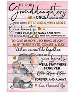 We Love You Forever And Always Quote Gift For Granddaughter From Nana And Pops Vertical Poster