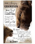 Never Forget How Much I Love You Quote Gift For Grandson From Mammy Vertical Poster