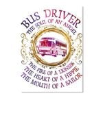 Bus Driver The Soul Of An Angel Gifts For Bus Drivers Peel & Stick Poster