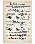 Take My Hand For I Can't Help Falling In Love With You Trending Vertical Poster