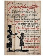 You Are Always Our Little Girl Quote Gift For Granddaughter From Nannylady And Pappy Vertical Poster